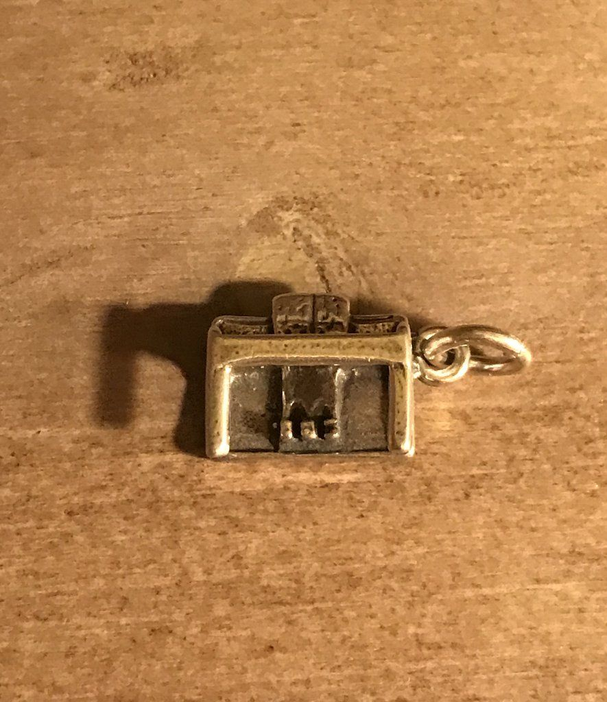 Vintage Genuine 925 Sterling Silver Piano Charm ~ Music ~ #3392