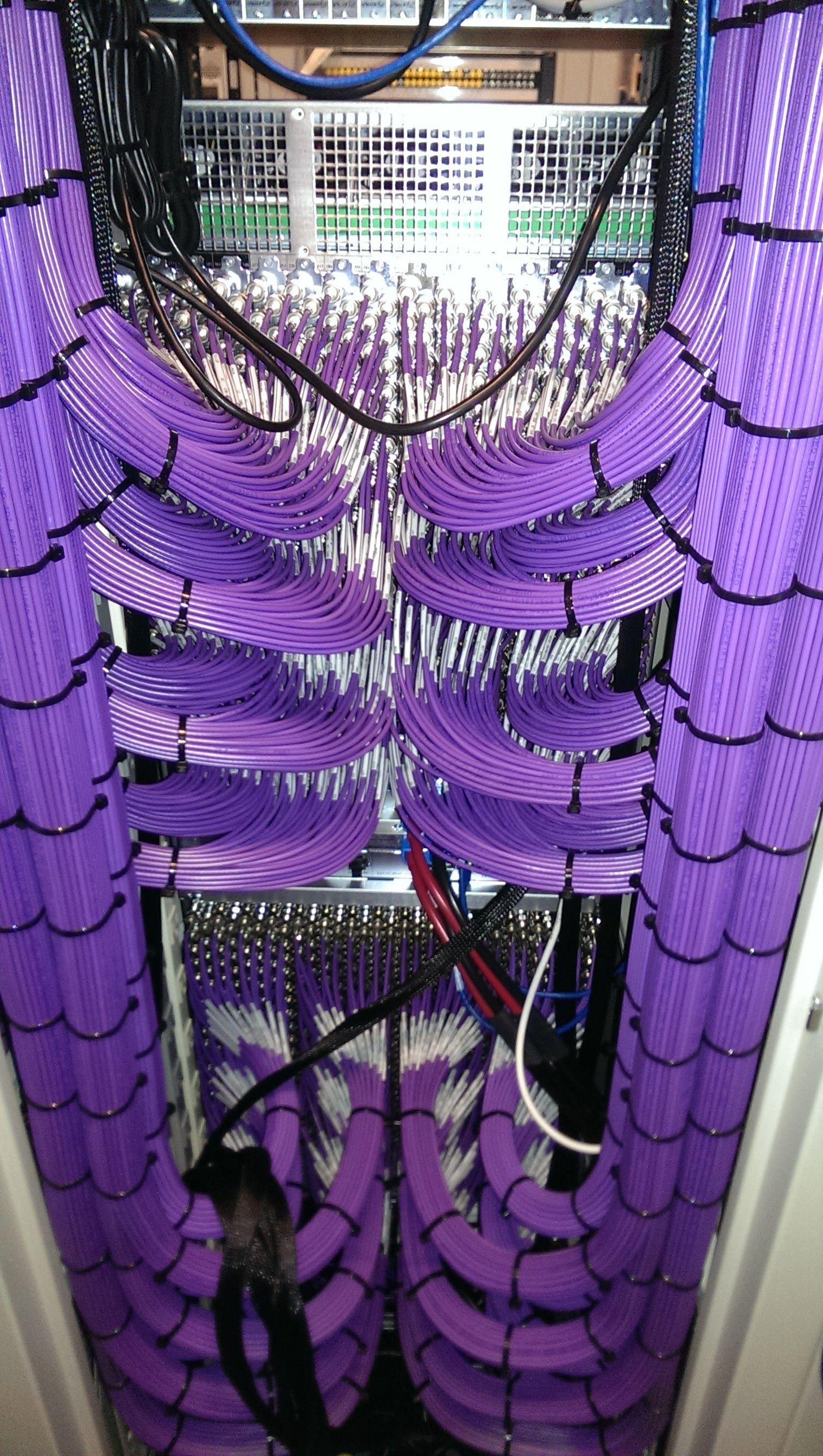 Perfect Serverraum Netzwerktechnik Elektroverkabelung