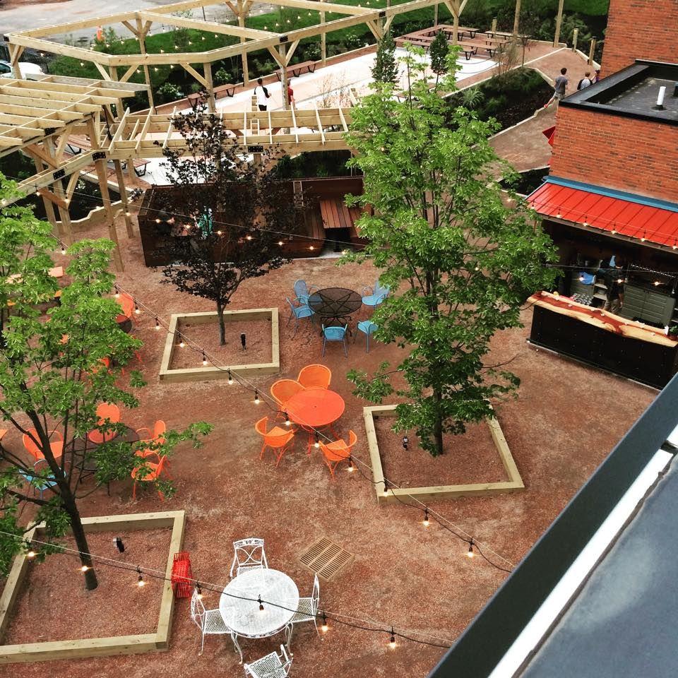 Hydraulic Hearth beer garden By Studio Prospect   Courtyards ...