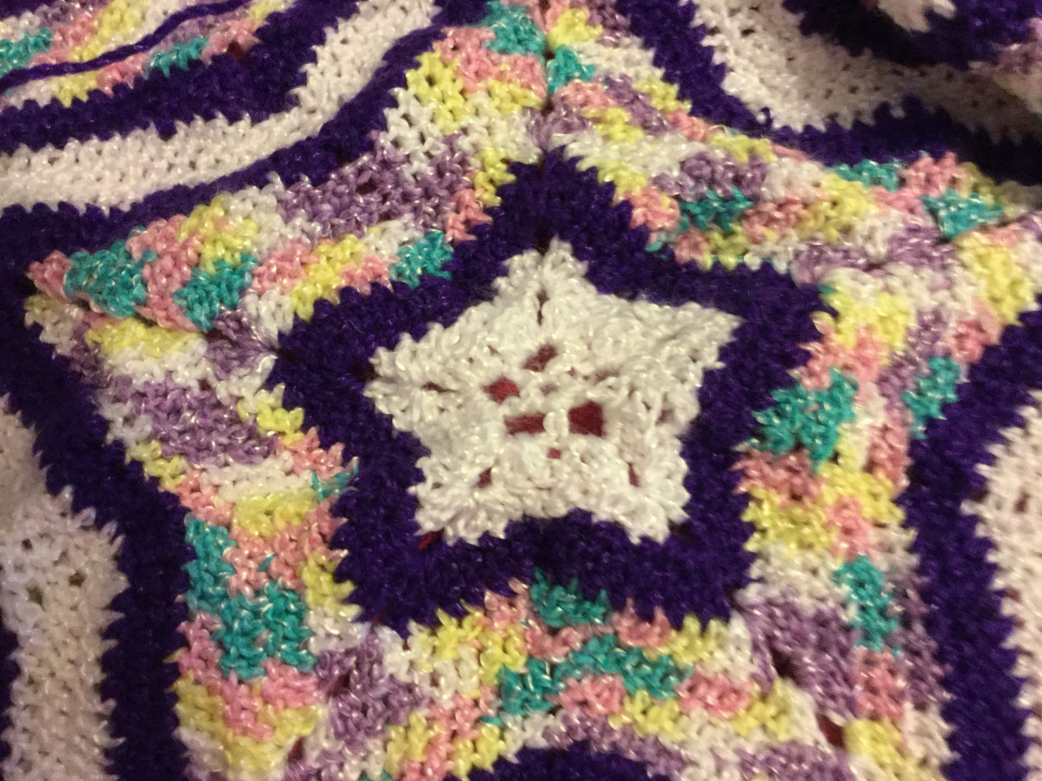 Star baby blanket I made