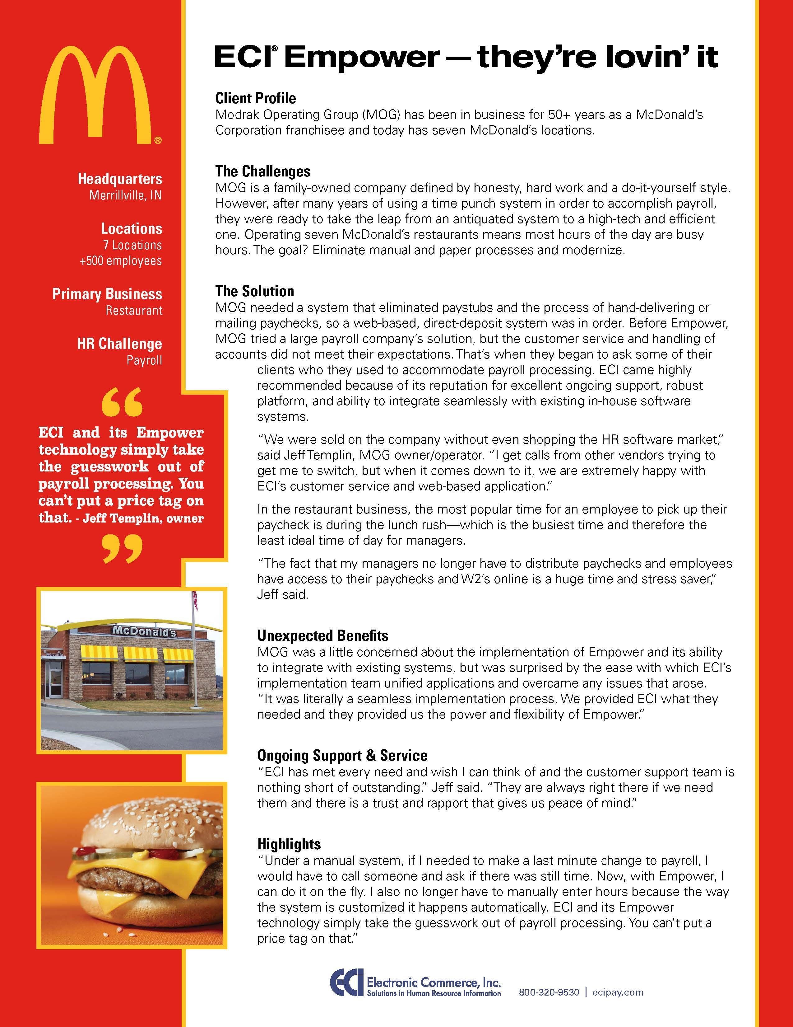 mcdonalds case study solution