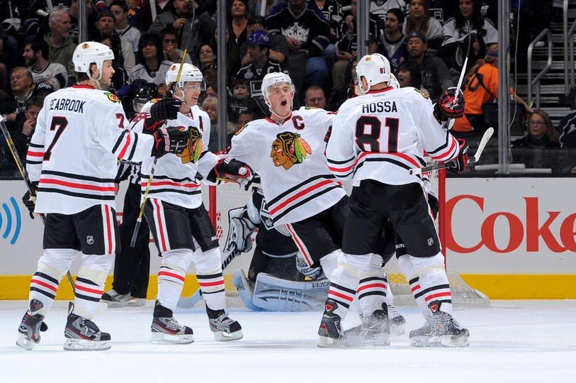 Blackhawks at Kings 1/19/13 1st game of the end of the