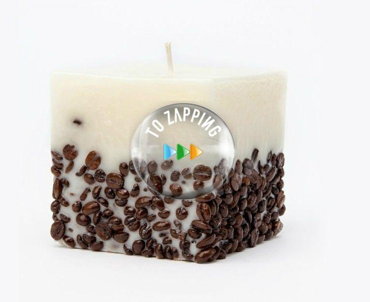 Cómo hacer velas decoradas con café