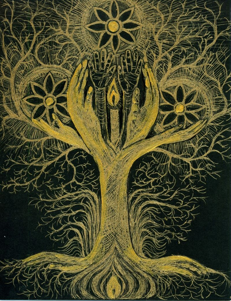 Tree Of Life Represents Illustration 10 Tree Of Life With Hands