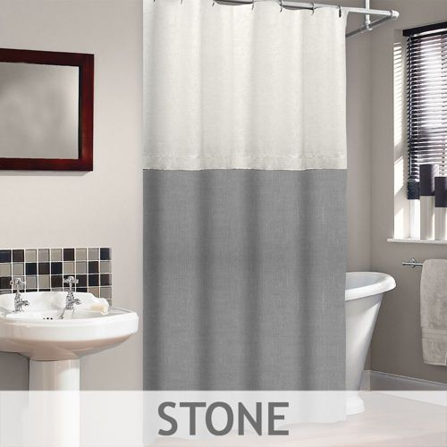 Veratex Platinum Collection Two Tone Ramie Linen Shower Curtain