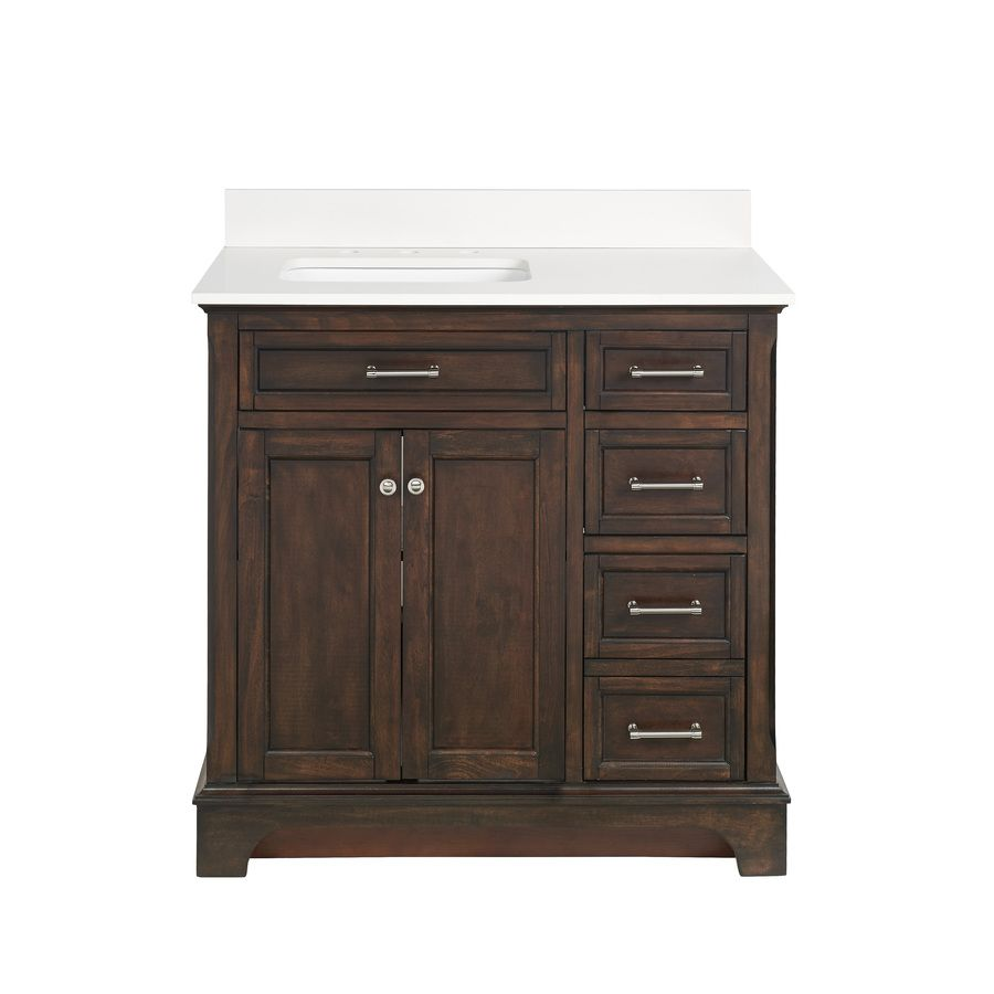 Allen Roth Roveland Mahogany Undermount Single Sink Birch Poplar