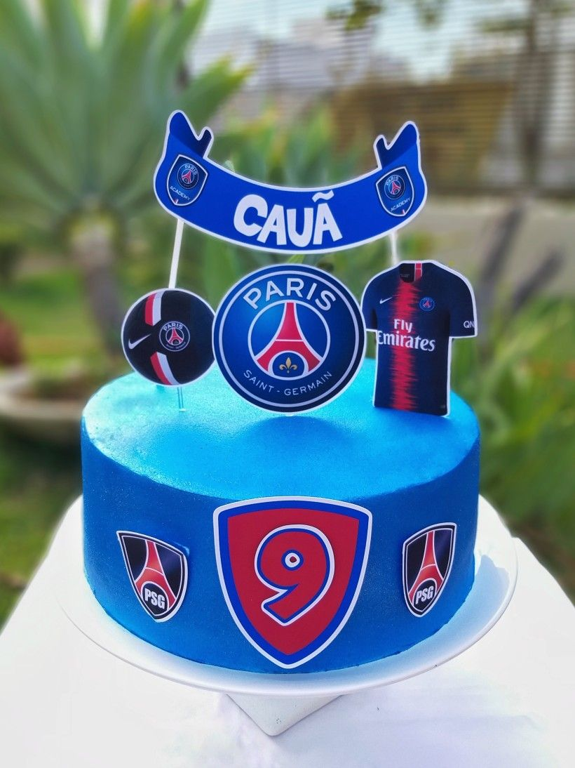 Bolo Chantininho Chantilly Cake Paris Saint Germain Bolo Azul
