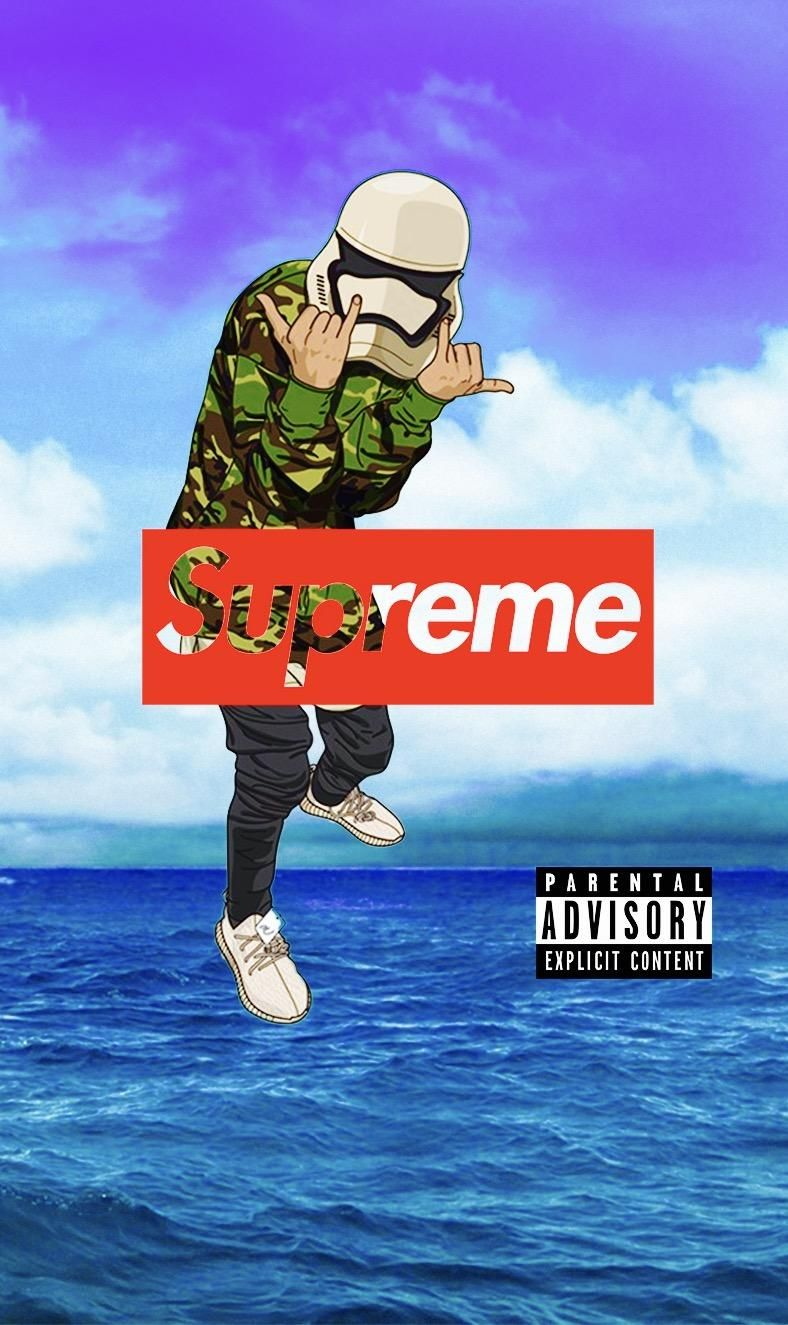 Supreme Cartoon Supreme Wallpaper Cartoon Wallpaper Iphone