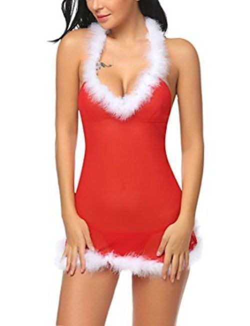 411209cea74b Santa Claus Lingerie Sexy Christmas Set Red Baby Doll Role Play Gifts For  Her #SantaClausLingerie #Sexy #Christmas