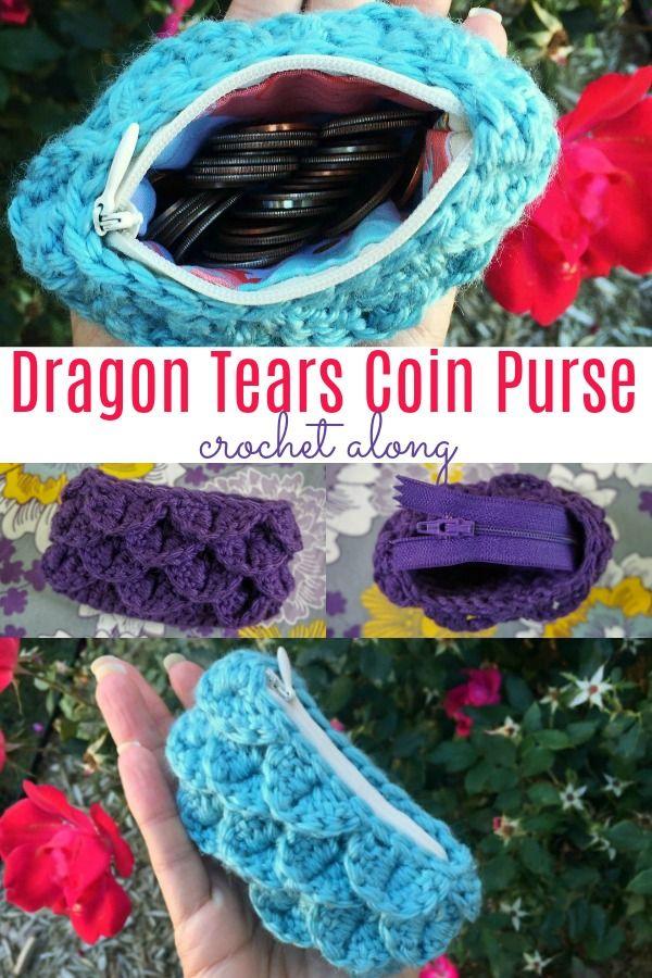 Dragon Tears Coin Purse Crochet Along | Crochet 1 | Pinterest ...