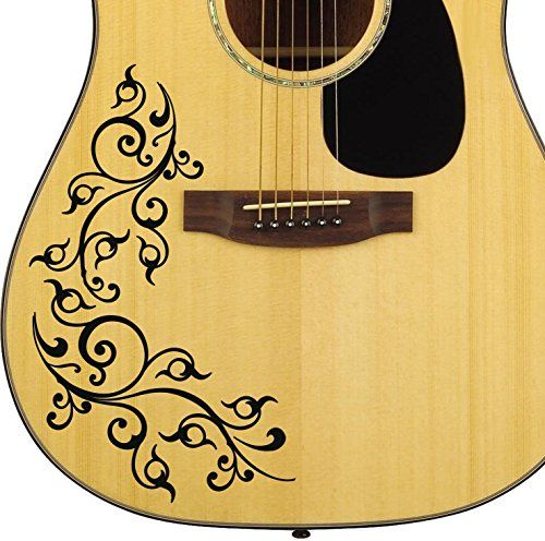 Pro acoustic floral swirl guitar decal sticker pack fits https custom vinyl guitar decals