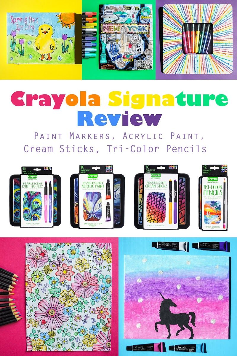 Review Crayola Signature Pearlescent Acrylic Paint Cream Sticks