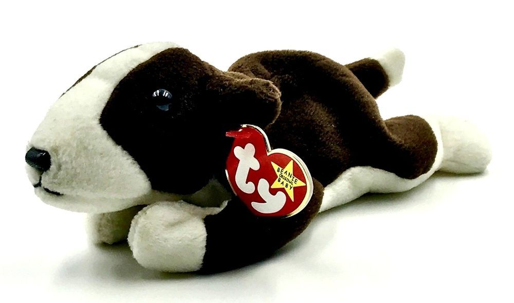 48ec0769e74 Original Ty Beanie Babies Bruno Dog Staffordshire Bull Terrier 1997 Retired  Rare