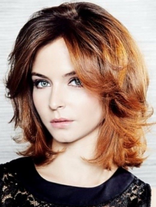 Medium Length Hairstyles for Thick Wavy Hair with Bangs 2016 for Teenagers