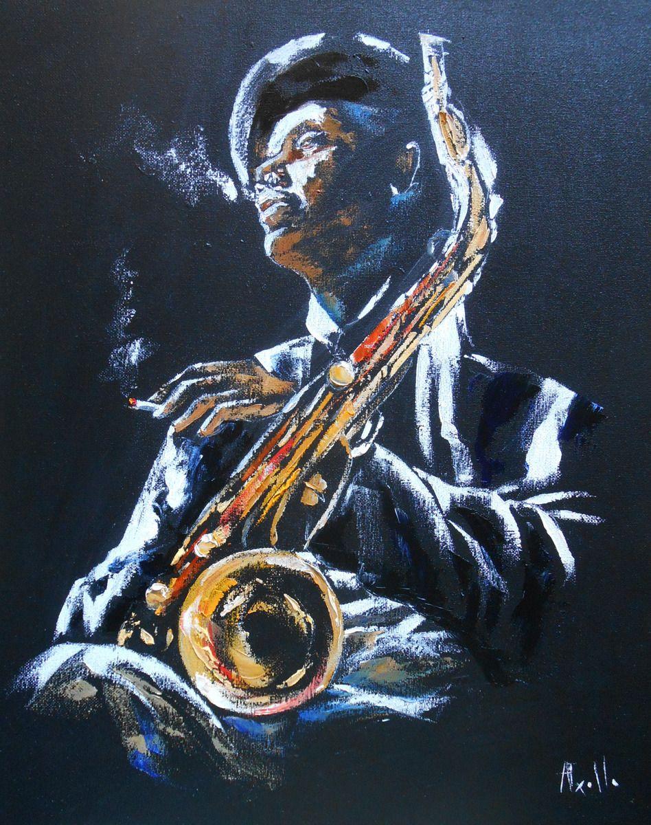 Tableau Saxo Jazz Peintures Axelle Bosler Peintures Par