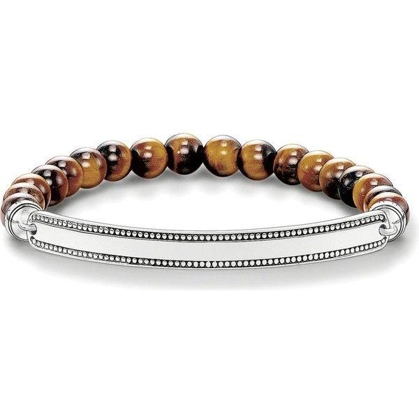 Latest Latest Thomas Sabo Love Bridge Tiger's Eye And Silver Bracelet for Men Online Online