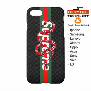 finest selection 91dc8 568ca Gucci snake supreme case iphone x 8 5s oppo f5 redmi 5a mi a1 note 8 ...