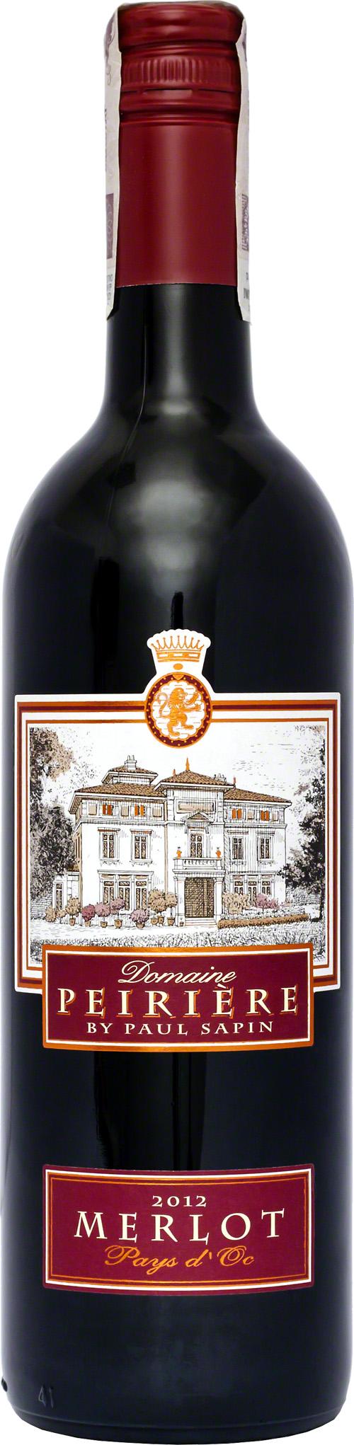 Domaine Peiriere Merlot Pays D Oc Klasyczny Przyklad Szczepu Merlot Z Poludnia Francji Dominuja Aromaty Dojrzalych Czerwony Cabernet Sauvignon Syrah Sauvignon