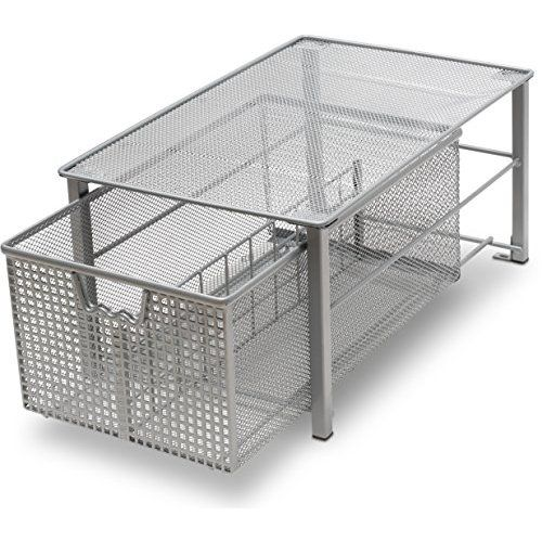 Peachy Decobros Stackable Under Sink Cabinet Sliding Basket Download Free Architecture Designs Scobabritishbridgeorg