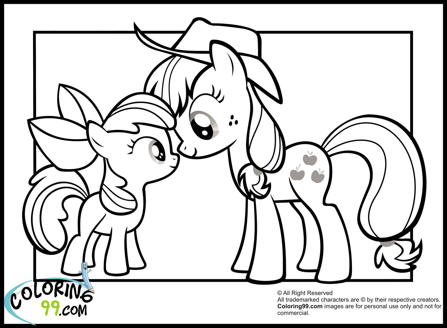 my little pony coloring pages my little pony applejack coloring