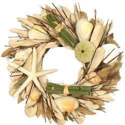 "Beach Bungalow 10"" Seashell Wreath"