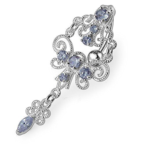 Photo of Lavender Crystal Stone Trendy Chandelier Design Sterling Silver Belly Bars Pie … – My Blog