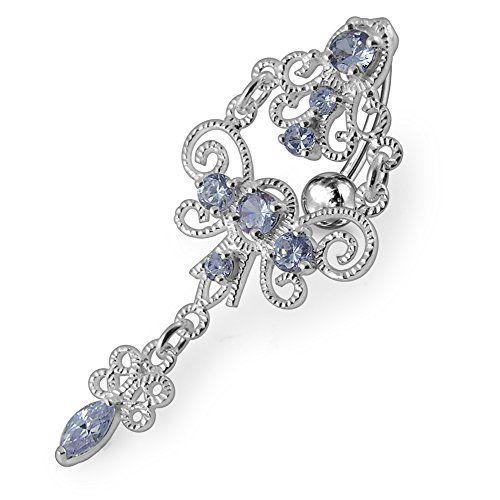 Photo of Lavender Crystal Stone Trendy Chandelier Design Sterling Silver Ba …, #Design #jewelryr …