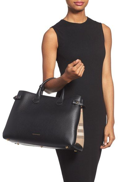 269b64337a Main Image - Burberry  Large Banner  House Check Leather Tote ...