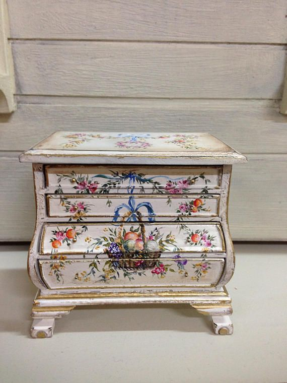Fruit chest of drawers 1/12. Dollhouse Furniture   Muebles de madera ...