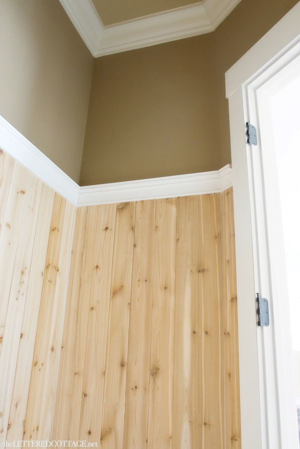 Half Bath Update – Tile and Wood | The Lettered Cottage pine ...