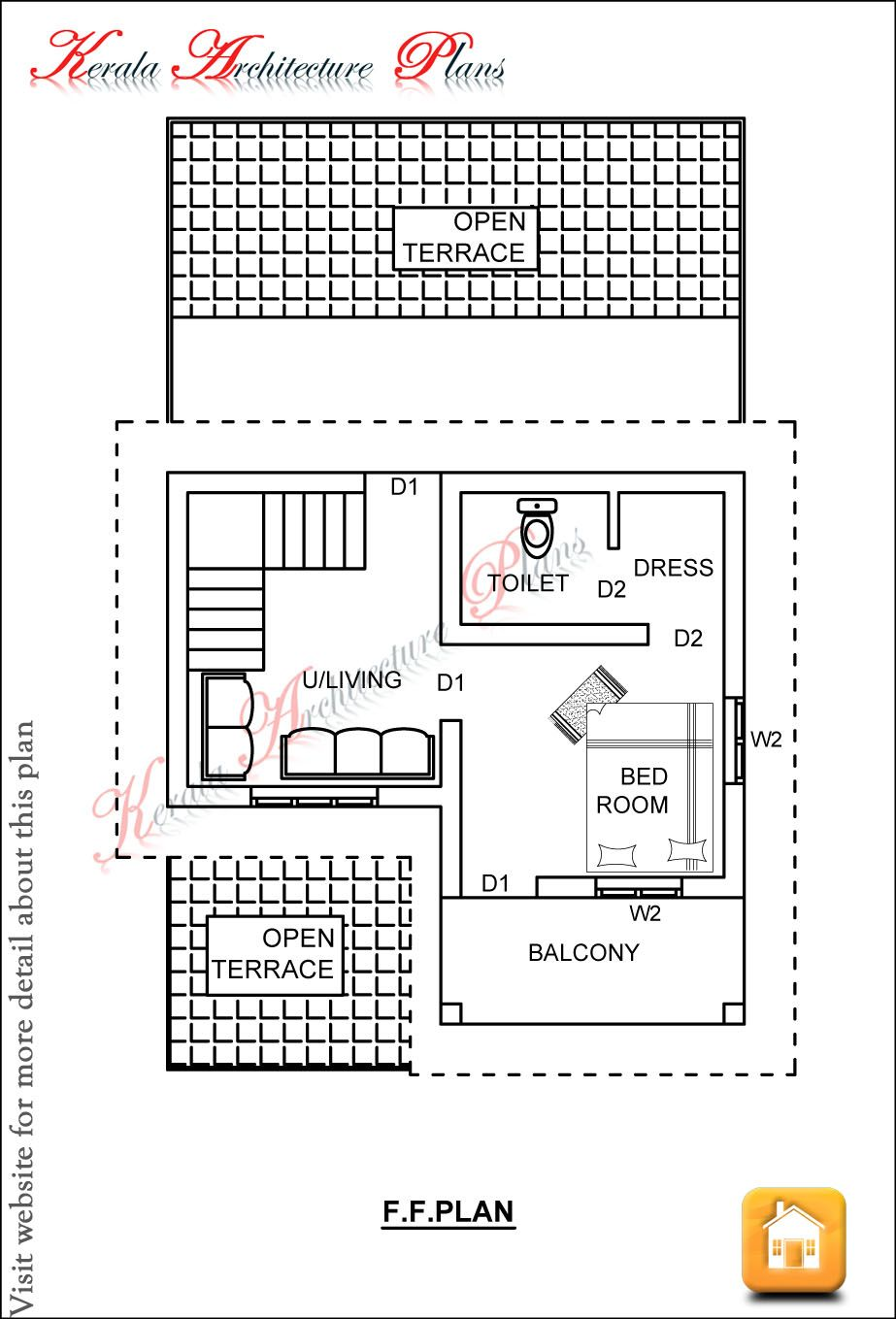 3 bedroom duplex house plans in kerala for Duplex house plans 1200 sq ft