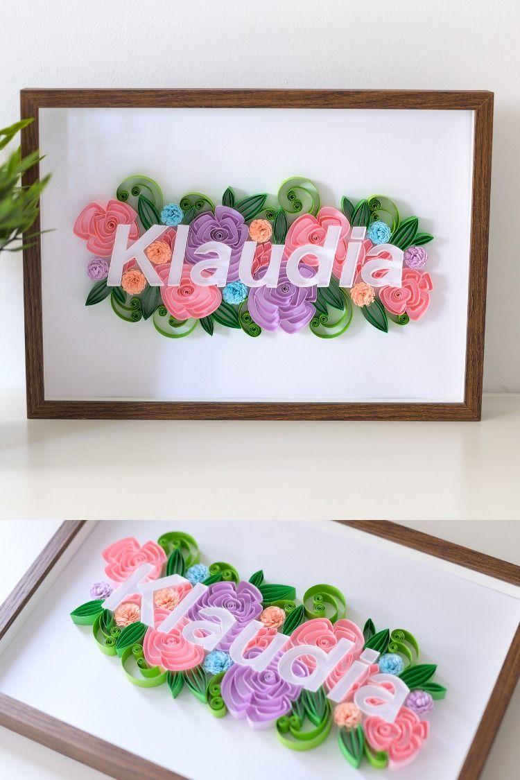Imie Dziecka W Ramce Obrazek Z Imieniem Na Sciane Pastelowe Dekoracje Na Sciane Pokoj Dziecka Decor Decorative Tray Home Decor