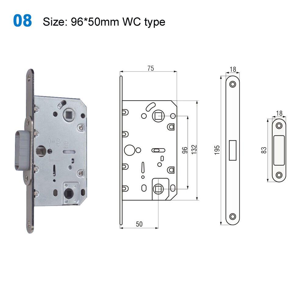 Exterior Door Lock Security Lock Mechanism Yale Lock