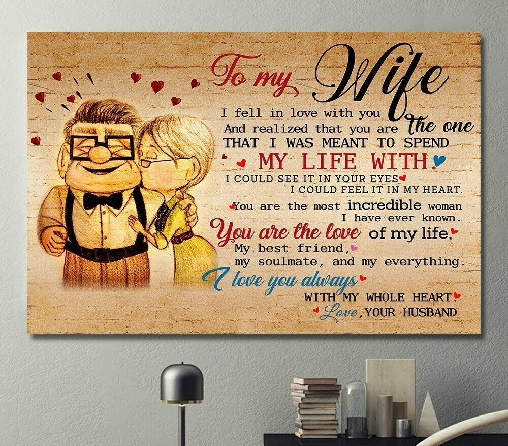 Carl And Ellie To My Love Once Upon A Time I Became Yours Landscape Poster
