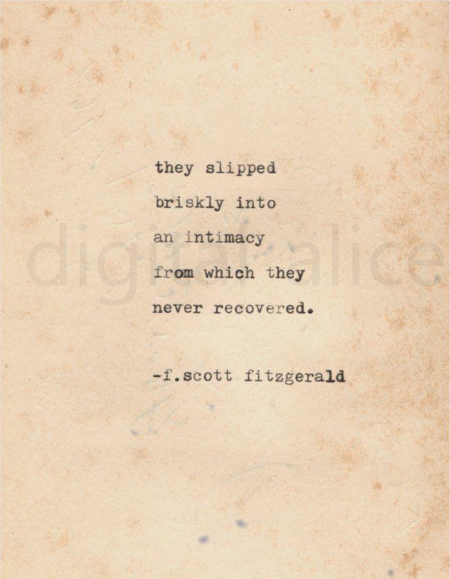 VINTAGE TYPEWRITER PRINT f Scott Fitzgerald Quote Wall Art   Etsy
