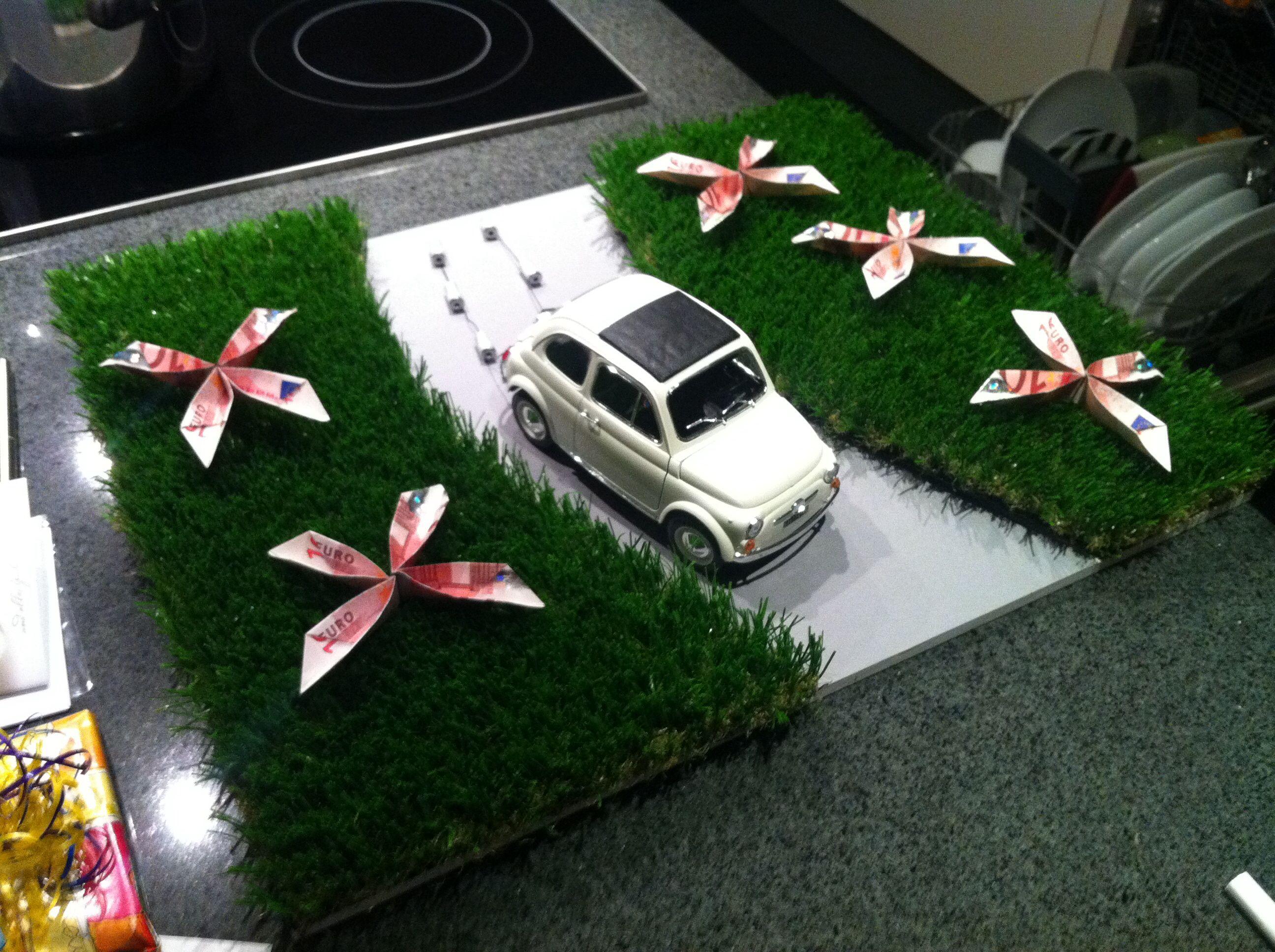 Geldgeschenk Hochzeit Fiat 500