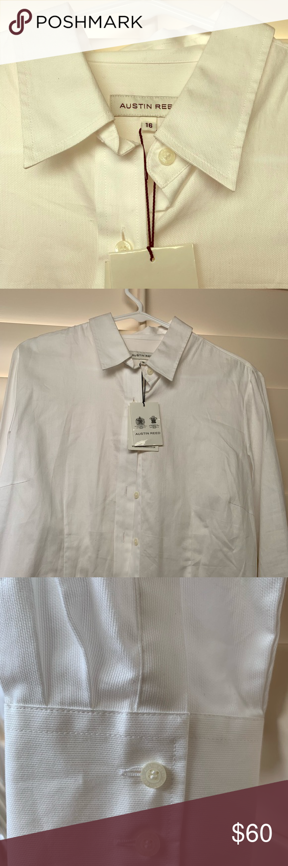 Austin Reed Quality Fitted Classic Oxford Shirt Uk Size 16 Translates To Us 12 14 Never Worn Purchased In Dubai Highes Oxford Shirt Clothes Design Shirts
