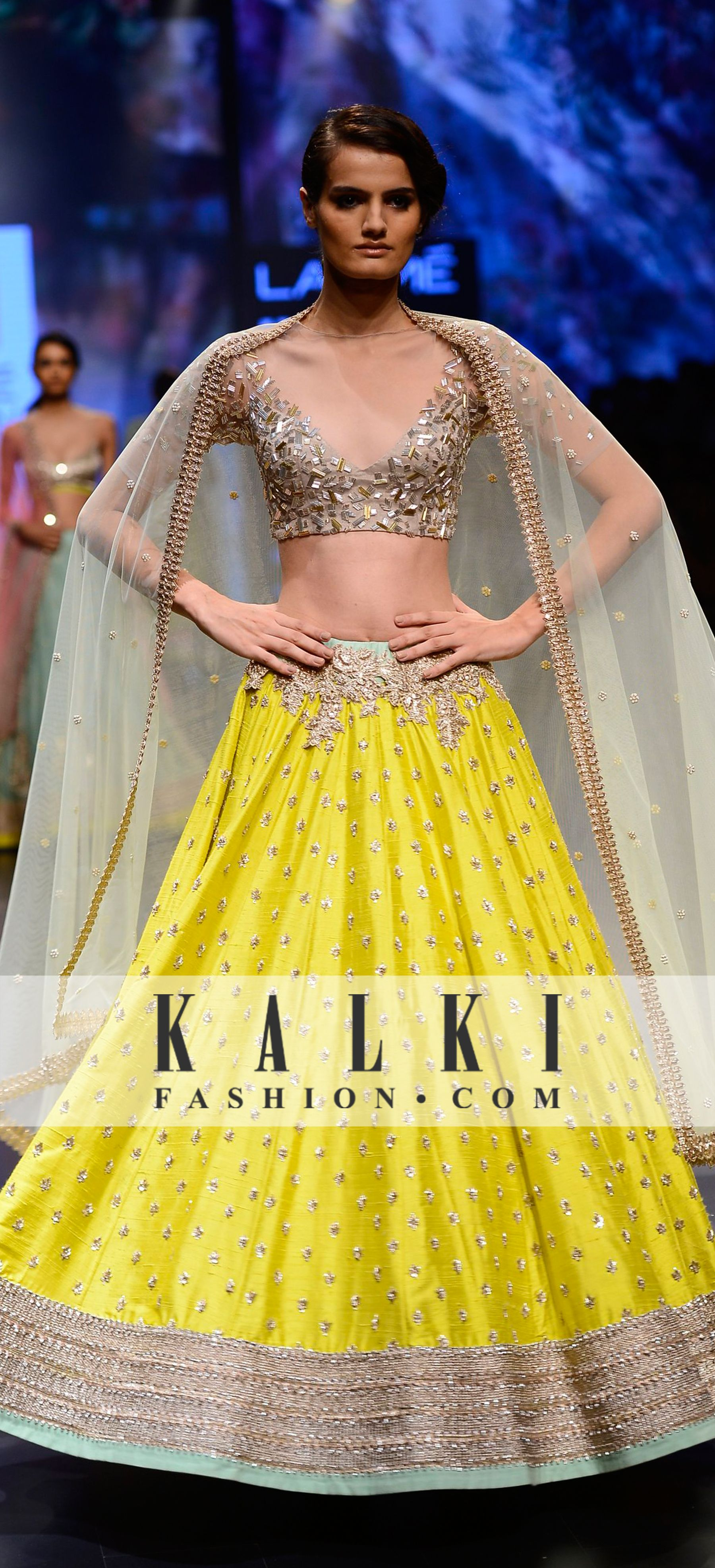Saree for fashion show anushree reddy collection at lakme fashion week   couture