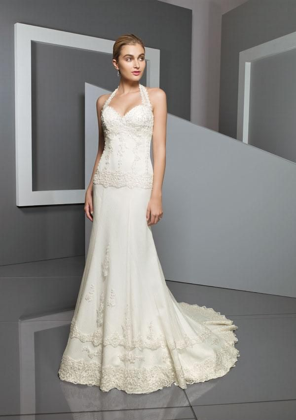 1000  images about Halter Wedding Dresses on Pinterest  Satin ...
