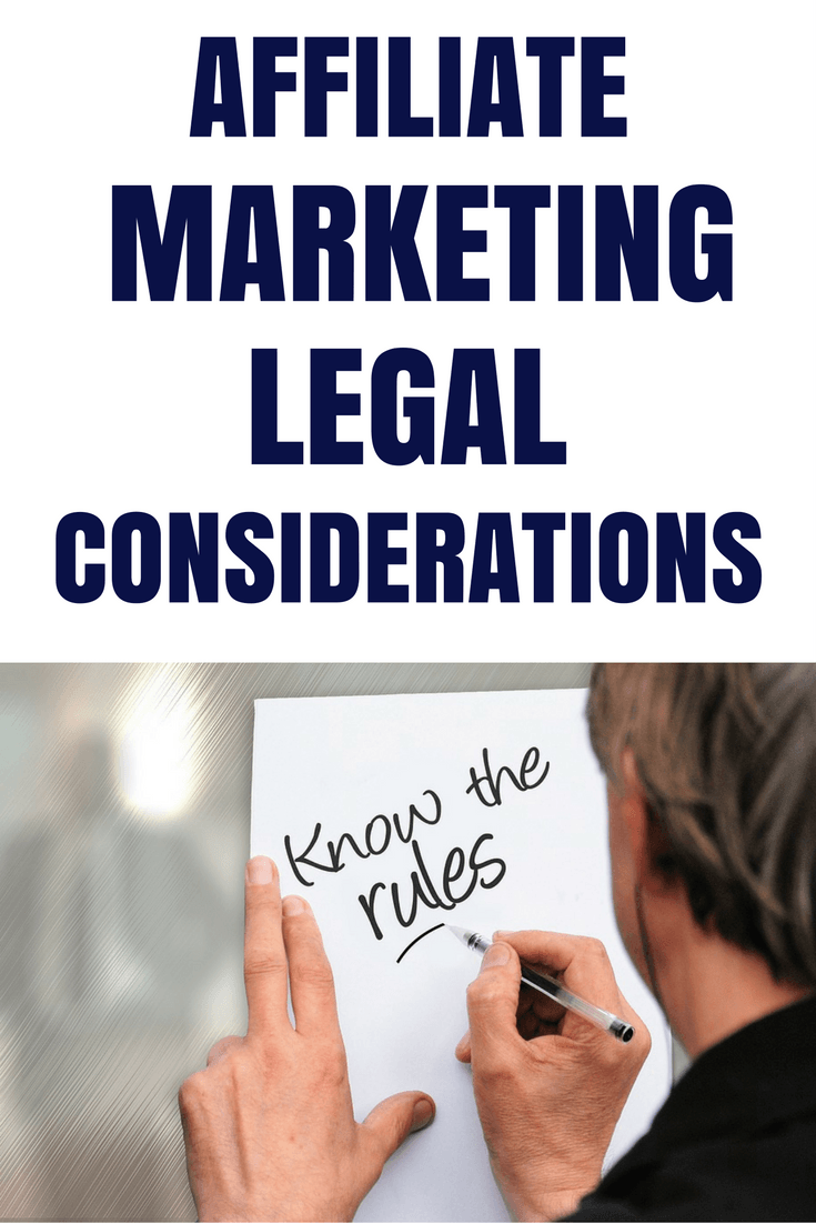 Affiliate marketing legal considerations