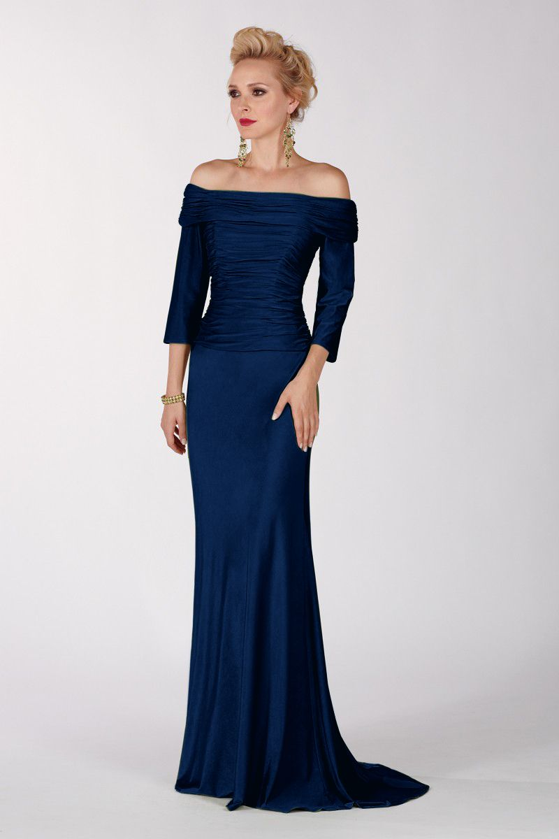 lovely  Navy evening gown, Designer evening gowns, Evening gowns