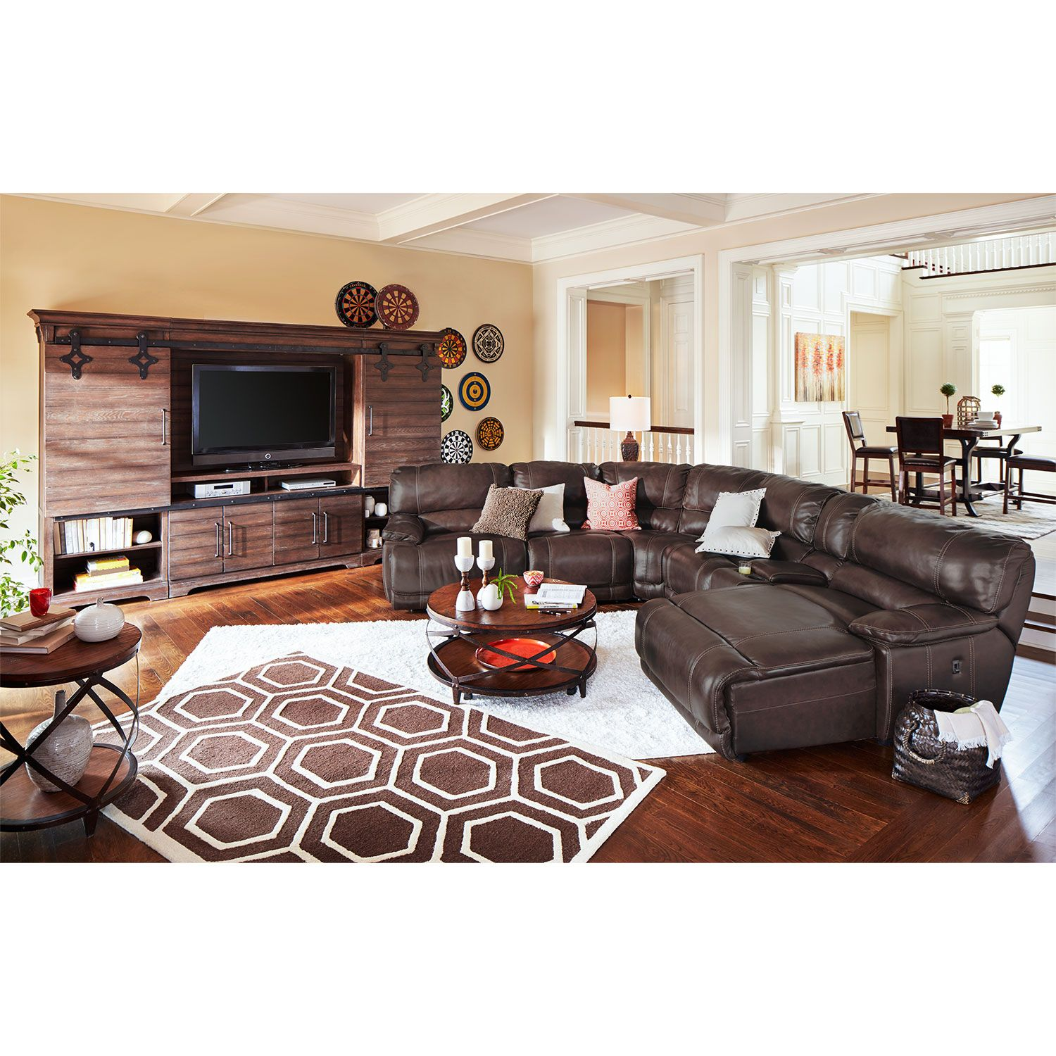 american signature living room sets furniture sofa st malo 6 pc power reclining sectional