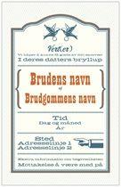 Bryllupsinvitasjoner Invitasjoner og kunngjøringer fugler gammeldags