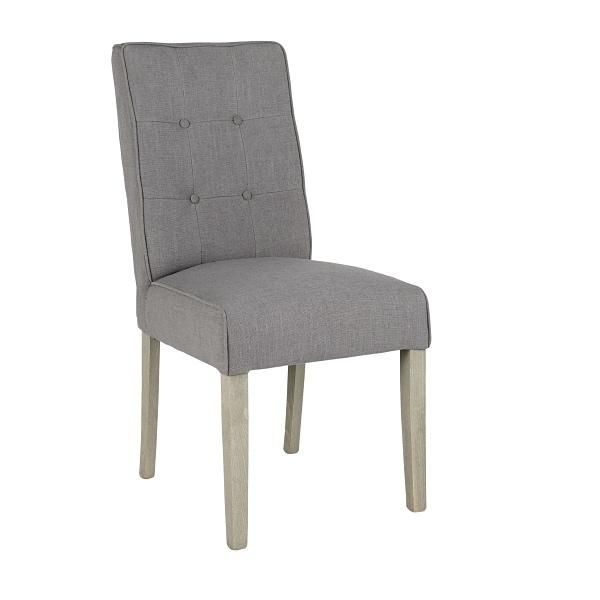 Fulham Grey Upholstered Dining Chair Pair With Images Grey