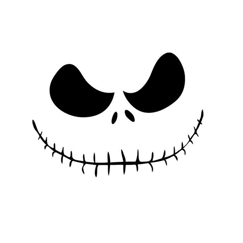 Jack Skellington Die Cut Vinyl Decal PV592 for Windows, Vehicle Windows, Vehicle Body Surfaces or just about any surface that is smooth and clean!