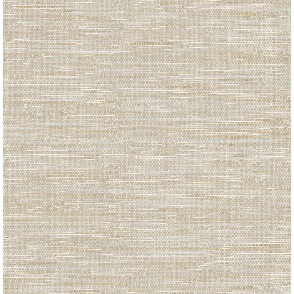 AStreet Beige Grey Faux Grasscloth Wallpaper Sample