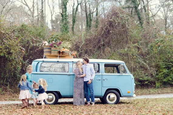 Vw Bus And Flowers Family Photo Shoot By Alea Moore Photography