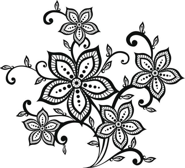 Un disegno dalle linee grafiche per un tattoo dal mood for Fiori da disegnare facili