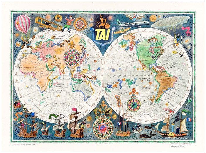 #TAI Transports #Aériens Intercontinentaux #manifesto #original #poster vintage by www.posterimage.it