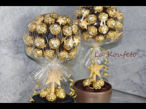 Tutorial On How To Make A Bouquet Of Chocolates Youtube Candy Tree Chocolate Bouquet Diy Chocolate Tree